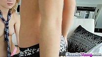 Hot babes Adriana and Dakota shared with a huge...