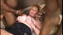 Cougar fucks two Big Black Cocks video