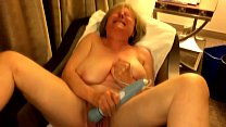 Big tit GILF gets off in hotel window MarieRocks