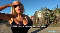 Public Agent Teasing dirty talking busty blonde...