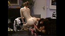 Busty Tiziana Redford in Black Lingerie lesbian scene preview image