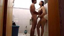 Hot Indian Couple Sunny And Sonia Bhabhi Bathroom Sex