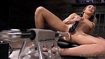 Blonde has orgasms on fucking machine Thumbnail