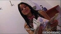 Big tits amateur Czech babe Mia Manarote sex for cash