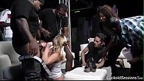 Brooke Wylde gets gangbanged in a club Preview