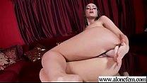 Abigail Mac ride dildo cock on table pornhub video