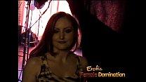 Horny brunette slut Mistress Gemini has some fun with raunchy studs Thumbnail