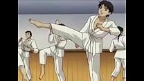 Hentai Professora faz aluno gozar no Karate
