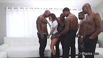 Screenshot Big Tit Coed On 5 Big Black Dicks
