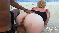 Blonde Sucks & Fucks BBC On Public Beach