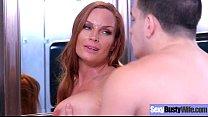 (Diamond Foxxx) Round Sexy Big Boobs Housewife Enjoy Hard Bang movie-13