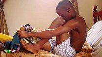 Saugen, Niedlich Und Großen Afrikanischen Hahn