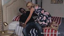 Blonde spreads wide for dealers big black cock