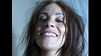 A Blindfolder Ginger Lea Gets a Load of Cum on her Face pornhub video