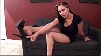 Sasha Foxx shoe dangling JOI