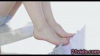 Minnie Manga foot play