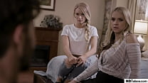 Stepmom and Daughter tricked into FFM - Sarah Vandella, Emma Hix - Pure Taboo