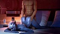 Mass Liara & Kaidan Romance Scene porn image