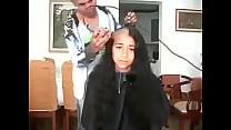 12364 مغربية سوسية تحلق شعرها الطويل preview