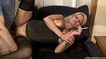 Blonde Milf Mature Smoking Facefucking CumSlut Image