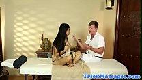 Busty massage babe banged on hidden spycam