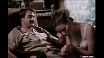 Classic pornstar legend Annette Haven giving a blowjob