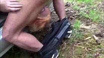 German Mature - Lehrerin fickt Schueler im Wald nach der Schule Freund filmt Vorschaubild