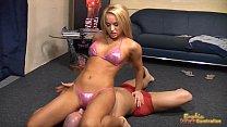 Aleska Diamond in bikini attacks her servants balls Vorschaubild
