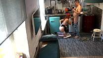 Kitchen sex - Czech teen voyeur video