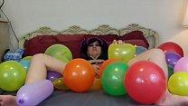 Balloon popping masturbation fetish [페티쉬 Fetish]