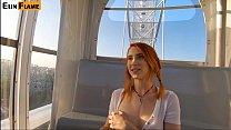 Cute Teen Swall ows Hot Cum   Public Blowjob O ublic Blowjob On Ferris Wheel