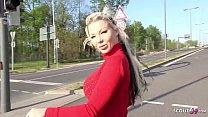GERMAN SCOUT - Big Boobs MILF Barbie Sins Talk To Fuck At Street Casting For Money Vorschaubild