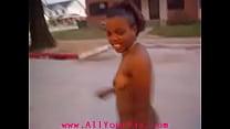 AllYourPix.com - Black Girl Walking In Street Nude