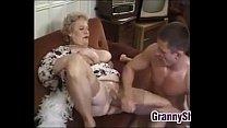 Fat And Busty Granny Enjoying A Cock Vorschaubild
