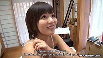 Japanese brunette, You Asakura got stimulated with sex toys, uncensored