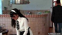 Waiter helps
