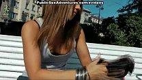 Horny redhead strips in public and fucks pornhub video