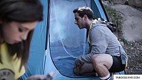 Teen cheating on boyfriend on camping trip