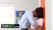 InnocentHigh Naturally busty schoolgirl Evi Fox fucks teacher