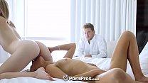 PornPros Big dick lucky man fucks two sexy girls in threesome thumbnail