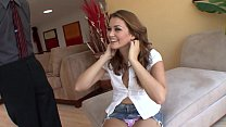 Lucky Mature Guy Fucks The Mouth And Pussy On Sexy Young Brunette Teen Allie Haze