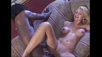 Hot Babe rides an very huge black cock very dee... thumb