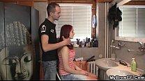 Slutty bitch cheats with hairdresser porn thumbnail