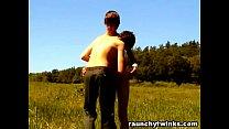 Teen Boys Play On The Fields