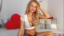 A beautiful blonde girl on webcam. Super HOT! pornhub video