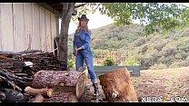 Mature MILF Brandi Love outdoor blowjob and hot...