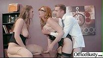 Horny Busty Girl (Lauren Phillips & Lena Paul) Loving Sex Get Banged In Office vid-14 porn thumbnail