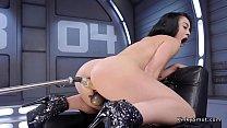 Wet ass brunette anal fucks machine pornhub video