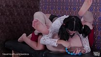 10690 Hot little slave gets a brutal face fucking and sucks dom's ass clean (Eden Sin) preview