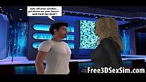 Foxy 3D cartoon blonde sucks cock and gets a facial